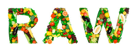 Healthy alphabet - RAW Royalty Free Stock Photos