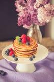 Healthy american pancakes Royalty Free Stock Photos