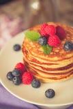 Healthy american pancakes Royalty Free Stock Photo