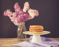 Healthy american pancakes Royalty Free Stock Photography