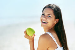 Healthy app;e woman Stock Images
