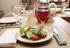 Healthy appetizer on restaurant table Stock Photography
