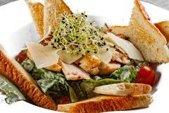 Healthy appetizer with  toast Stock Images
