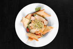 Healthy appetizer with  toast Royalty Free Stock Images