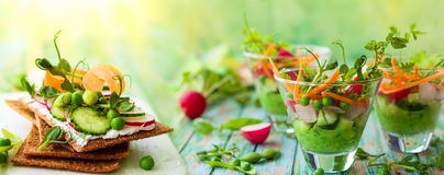 Healthy appetizer Stock Photos