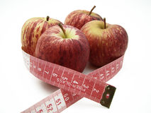 Healthy apple. Red apples representing a healthy diet to lose weight and have more health Stock Image
