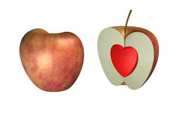 Healthy Apple. Computer generated image of a very healthy apple Royalty Free Stock Image