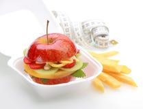 Free Healthy Apple Burger Take Away Stock Image - 40132131