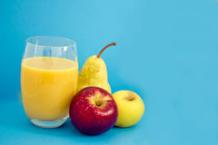 Healthy apple and pear juice Stock Images