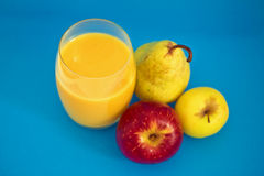 Healthy apple and pear juice Royalty Free Stock Photography