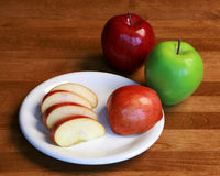 Healthy apple snack Royalty Free Stock Photo
