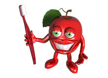 Healthy apple with clean teeth Royalty Free Stock Photography