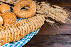 Healthy array of wheat products Royalty Free Stock Images