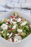 Healthy Arugula Salad with tuna Stock Images