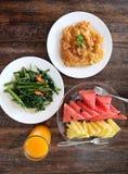 Healthy Asian breakfast Royalty Free Stock Photos