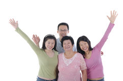 Healthy asian family Stock Photos