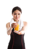 Healthy asian girl Royalty Free Stock Photography