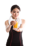 Healthy asian girl Stock Photos