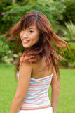 Healthy Asian Hair Stock Photo