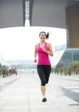 healthy asian woman jogging at city Stock Photography