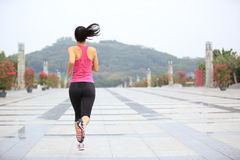 Healthy asian woman jogging at city Stock Image
