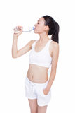 Healthy asian woman with water bottle Stock Photo
