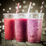 Healthy assorted berry smoothies Royalty Free Stock Image