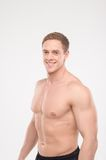 Healthy athletic man posing Stock Photography