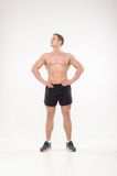 Healthy athletic man posing Stock Images