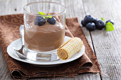 Healthy avocado chocolate pudding Royalty Free Stock Photos