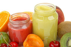 Healthy baby food Stock Photo