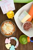 Healthy Baby Food Recipe Royalty Free Stock Images