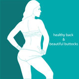 Healthy back and beautiful buttocks Royalty Free Stock Photo