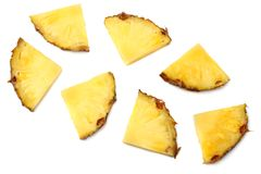 Healthy background. pineapple slices isolated on white background top view Royalty Free Stock Photo