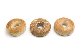 Healthy Bagels. Three bagel which are good for your health Royalty Free Stock Photos