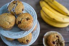 Healthy banana muffins stock photo