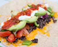 Healthy bean burrito Stock Photos