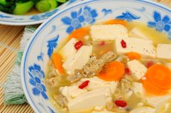 Healthy bean curd dish Royalty Free Stock Image