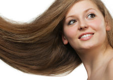 Healthy beautiful long hair Stock Photos
