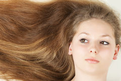 Healthy beautiful long hair Stock Images