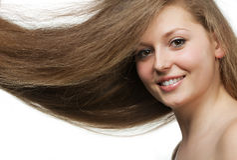 Healthy beautiful long hair Stock Photo
