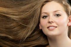 Healthy beautiful long hair closeup Stock Photography