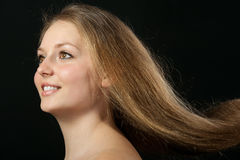 Healthy beautiful long hair closeup Royalty Free Stock Photos