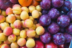 Healthy, beautiful and tasty food is fruit. Vitamins and bright summer colors. Stock Images