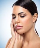 Healthy beautiful woman with closed eyes Stock Photography