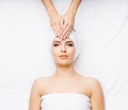 Healthy Beautiful Woman Spa Stock Foto