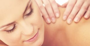 Healthy and Beautiful Woman in Spa. Recreation, Energy, Health, Massage and Healing. stock photo