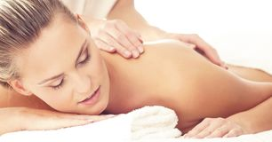 Healthy and Beautiful Woman in Spa. Recreation, Energy, Health, Massage and Healing. stock photos