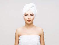 Healthy Beautiful Woman Spa. Stock Image