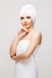 Healthy Beautiful Woman Spa. Stock Photos